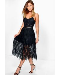 Boohoo - Boutique Corded Strappy Skater Dress - Lyst