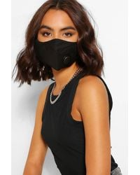 Boohoo 3 Layer Face Covering With Ventilation Valve - Black