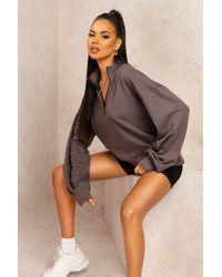 Boohoo Womens Mix And Match Edition Oversized-Sweat Mit Reißverschluss - Mehrfarbig