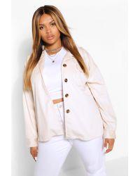 Boohoo Jumbo Cord Oversized Jacket - Pink