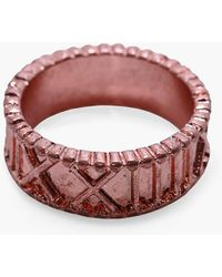 Boohoo Copper Numeral Engraved Ring - Red
