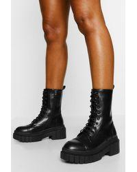 Boohoo Chaussures De Randonnée À Semelle Épaisse - Noir