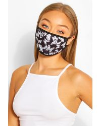 Boohoo Butterfly Fashion Face Mask - Black