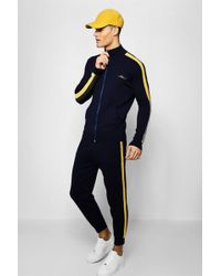 Boohoo - Man Signature Zip Through Knitted Tracksuit - Lyst