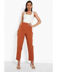 Boohoo Mix & Match Tonal Slim Fit Trousers - Orange