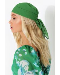 Boohoo Chiffon Headscarf - Green