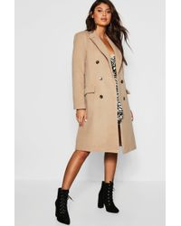 c84ac2647 Double Breasted Wool Look Coat