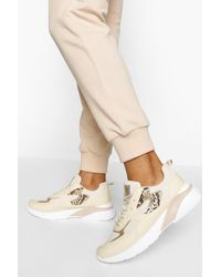 Boohoo Chunky Sole Trainers - Natural