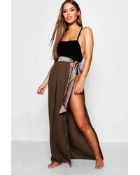895461c2709a3 Snake Print Maxi Tie Beach Skirt. £12. Boohoo · Boohoo - Petite Satin Tie  Beach Sarong - Lyst