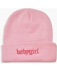 Boohoo Womens Babygirl Beanie - Pink