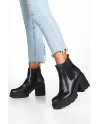 Boohoo - Chunky Cleated Chelsea Boots - Lyst