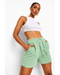 Boohoo Seam Detail Loopback Sweat Shorts - Green