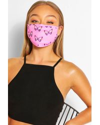 Boohoo Butterfly Fashion Face Mask - Pink