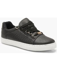 cc334d263ad164 Lyst - Converse Croc-embossed Metallic Leather High-top Sneakers in ...