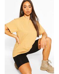 Boohoo - Übergroßes Basic-t-shirt - Lyst