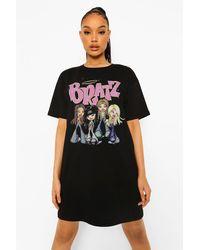 Boohoo Bratz License Print T-shirt Dress - Black