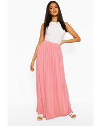 Boohoo Basic Floor Sweeping Jersey Maxi Skirt - Pink