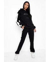 Boohoo Chándal Tall Woman Premium Con Capucha Y Colores En Bloque - Negro
