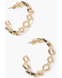 Boohoo Diamond Link Earrings - Metallic