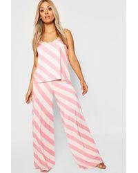 Boohoo Plus Gemma Collins Lace Trim Cami Pj Set - Pink