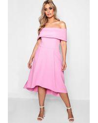 Boohoo - Plus Double Layer Midi Dress - Lyst
