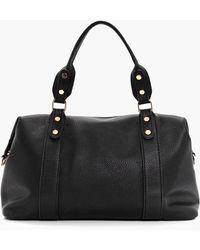 Boohoo | Annie Stud Detail Holdall Day Bag | Lyst