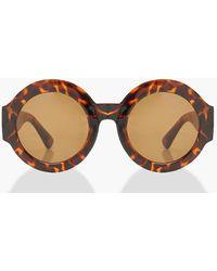 Boohoo Womens Oversized Tortoise Shell Sunglasses - Brown - One Size