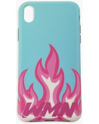 Boohoo Wmn Flames Iphone 11 Phone Case - Blue