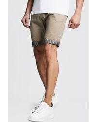 aa3c228ab555 Another Influence Shorts With Printed Turn Up in Natural for Men - Lyst