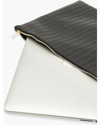 Boohoo Zip Top Croc Laptop Case - Black