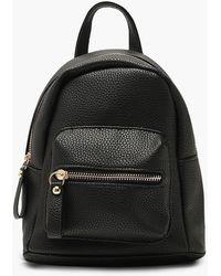 Boohoo Womens Grainy Mini Rucksack - Black