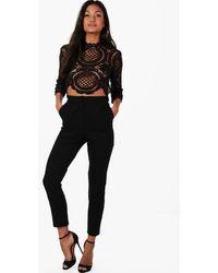 Boohoo Boutique Crop & Pants Two-piece Set - Black