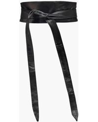 Boohoo Wrap Pu Obi Belt - Black