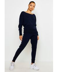 Boohoo Boutique Heavy Knitted Tracksuit - Blue