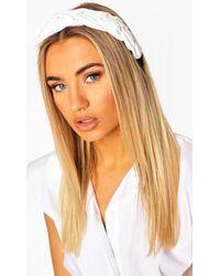 Boohoo Pu Plaited Headband - White
