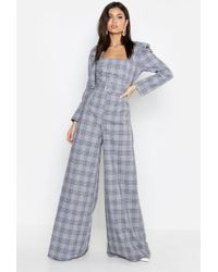 8fcc8ce3444d Lyst - Missguided Black Bardot Puff Sleeve Jumpsuit in Black