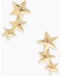 Boohoo Pendientes De Tuerca Con Colgantes De Estrellas - Metálico