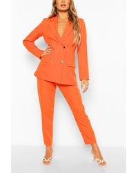 Boohoo Pantaloni sartoriali - Arancione
