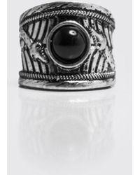 Boohoo Dark Stone Ring - Metallic