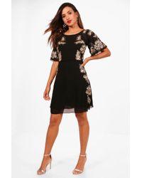 Boohoo - Boutique Cluster Sequin Skater Dress - Lyst