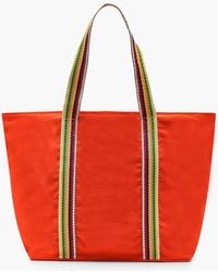Boohoo - Striped Handle Beach Bag - Lyst