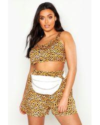 Boohoo Womens Plus Front Chain Detail Bum Bag - White