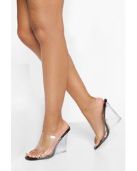 Boohoo All Over Clear Wedges - Black