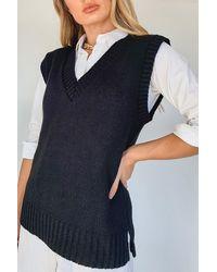 Boohoo Knitted Tank Top - Black