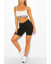 Boohoo Black Biker Shorts