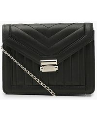 Boohoo Quilted Cross Body Bag - Black
