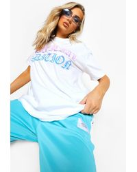 Boohoo Official Edition Ombre Oversized T Shirt - White