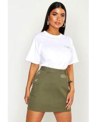 Boohoo Petite Cargo Pocket Denim Skirt - Multicolour
