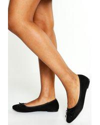Boohoo Round Toe Ballet Flats - Black