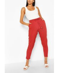 Boohoo Relaxed Fit Casual Sweatpants - Brown